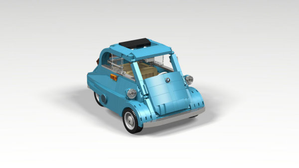 商品化潜力大,车迷拼出BMW Isetta乐高积木组